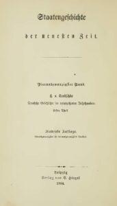 Staatengeschichte der neuesten Zeit – 24. Band – Deutsche Geschichte im neunzehnten Jahrhundert