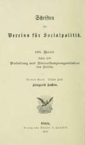 Verfassung und Verwaltungsorganisation der Städte – Vierter Band – Erstes Heft – Königreich Sachsen
