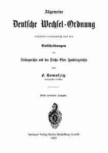 Allgemeine Deutsche Wechsel-Ordnung