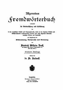 Allgemeines Fremdwörterbuch