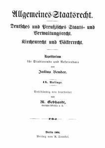 Allgemeines Staatsrecht - Teil 1: Staats- und Verwaltungsrecht des Deutschen Reiches