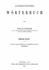 Altdeutsches Wörterbuch – 1.Band