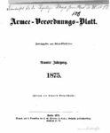 Armee-Verordnungsblatt – 1875 – Neunter Jahrgang