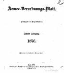 Armee-Verordnungsblatt – 1876 – Zehnter Jahrgang