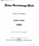 Armee-Verordnungsblatt – 1880 – Vierzehnter Jahrgang