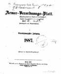 Armee-Verordnungsblatt – 1887 – Einundzwanzigster Jahrgang