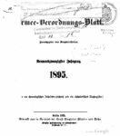 Armee-Verordnungsblatt – 1895 – Neunundzwanzigster Jahrgang