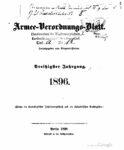 Armee-Verordnungsblatt – 1896 – Dreißigster Jahrgang