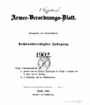 Armee-Verordnungsblatt – 1902 – Sechsunddreißigster Jahrgang