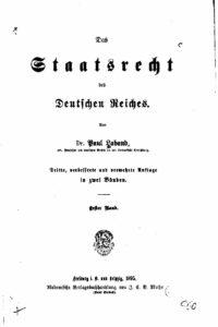 Das Staatsrecht des Deutschen Reiches – Erster Band – Auszug – Der Erwerb der Staatsangehörigkeit