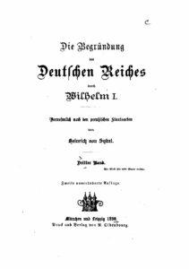 Die Begründung des Deutschen Reiches durch Wilhelm I. – Dritter Band