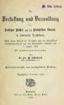 Die Verfassung und Verwaltung des Deutschen Reiches und des Preußischen Staates in gedrängter Darstellung – Jahrgang 1907