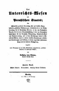 Das Unterrichtswesen des Preußischen Staates – Zweiter Band – Höhere Schulen, Universitäten & sonstige Kulturanstalten