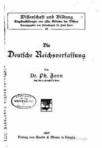 Die deutsche Reichsverfassung – Jahrgang 1907