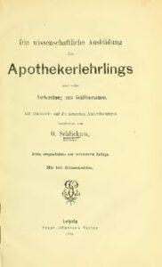 Die wissenschaftliche Ausbildung des Apothekerlehrlings – Jahrgang 1884