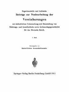 Arbeiten aus dem Kaiserlichen Gesundheitsamte – 1. Band