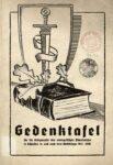 Gedenktafel für die Kriegsopfer des evangelischen Pfarrerhauses in Schlesien in und nach dem Weltkrieg 1914-1918
