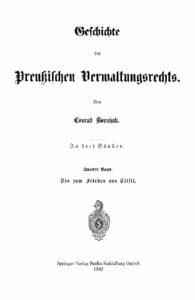 Geschichte des Preußischen Verwaltungsrechts – 2. Band – Jahrgang 1886