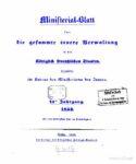 Ministerial-Blatt für die gesammte innere Verwaltung in den Königlich Preußischen Staaten 14. Jahrgang – 1853