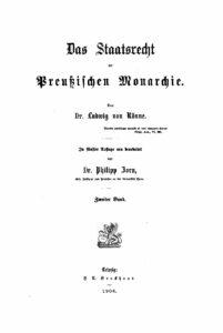 Das Staatsrecht der preußischen Monarchie – Zweiter Band
