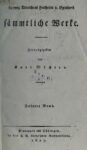 Sämtliche Werke 3. Band – Entwurf der Geschichte der Europäischen Staaten Erster Theil – 1827