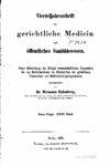 Virteljahrsschrift für gerichtliche Medicin und öffentliches Sanitätswesen Neue Folge 23. Band – 1875