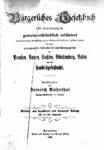 Bürgerliches Gesetzbuch nebst Einführungsgesetz – gemeinverständlich – 1906