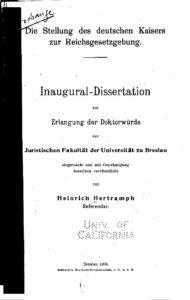 Die Stellung des deutschen Kaisers - 1905