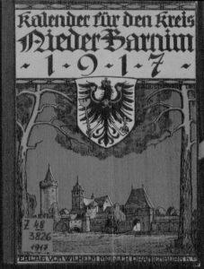 Kalender für den Kreis Niederbarnim – 1917