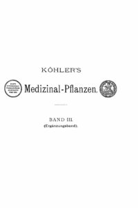 Köhlers Medizinal-Pflanzen – Band 3 (Ergänzungsband)