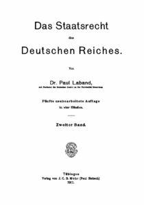 Das Staatsrecht des Deutschen Reiches – Zweiter Band