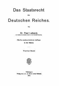 Das Staatsrecht des Deutschen Reiches – Vierter Band