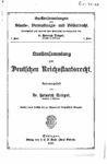 Quellensammlung zum deutschen Reichsstaatsrecht – Erster Band
