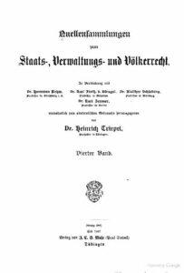 Quellensammlung zum Preußischen Staatsrecht – Vierter Band