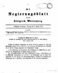 Regierungsblatt für das Königreich Württemberg – Jahrgang 1899