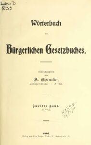 Wörterbuch des Bürgerlichen Gesetzbuches – Zweiter Band: F-S