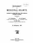 Zeitschrift für Medizinal-Beamte – 1897