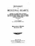 Zeitschrift für Medizinal-Beamte – 1902 – Sonderheft