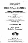 Zeitschrift für Medizinal-Beamte – 1908 – Erste Beilage