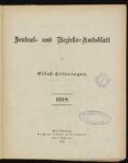 Zentral- und Bezirks-Amtsblatt für Elsaß – Lothringen – 1918