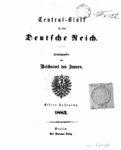 Central-Blatt für das Deutsche Reich – 1883 – Elfter Jahrgang