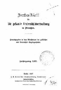 Zentralblatt für die gesamte Unterrichtsverwaltung in Preußen – Jahrgang 1917