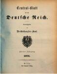 Central-Blatt für das Deutsche Reich – 1874 – Zweiter Jahrgang