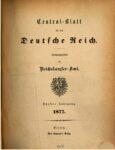 Central-Blatt für das Deutsche Reich – 1877 – Fünfter Jahrgang