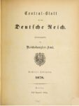 Central-Blatt für das Deutsche Reich – 1878 – Sechster Jahrgang