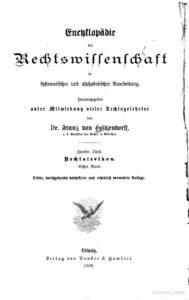 Encyklopädie der Rechtswissenschaft in systematischer und alphabetischer Bearbeitung – Zweiter Theil – Rechtslexicon – Erster Band