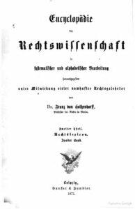 Encyklopädie der Rechtswissenschaft in systematischer und alphabetischer Bearbeitung – Zweiter Theil – Rechtslexicon – Zweiter Band
