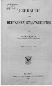Lehrbuch des deutschen Staatsrechtes