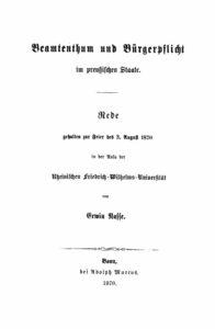 Beamtenthum und Bürgerpflicht im preußischen Staate