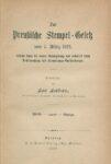 Das Preußische Stempel-Gesetz vom 7. März 1822